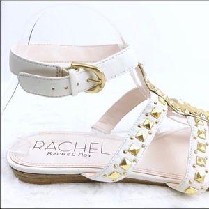 RACHEL Rachel Roy Shoes - RACHEL RACHEL ROY Shera White Gold Flat Sandals